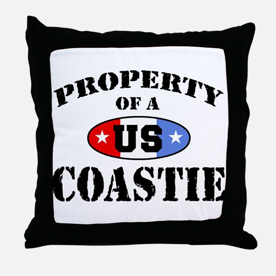 Property of a US Coastie  Throw Pillow