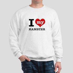 I heart Hamster designs Sweatshirt