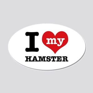 I heart Hamster designs 20x12 Oval Wall Decal