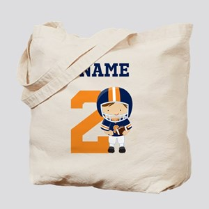 Personalized Football 2 Tote Bag
