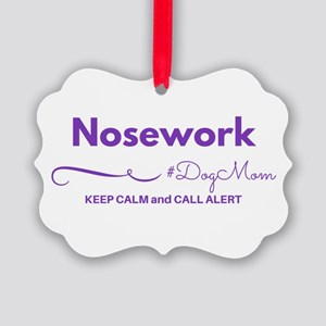 Nosework Dog Mom - Keep Calm & Picture Ornamen