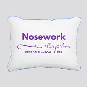 Nosework Dog Mom - Keep Rectangular Canvas Pillow
