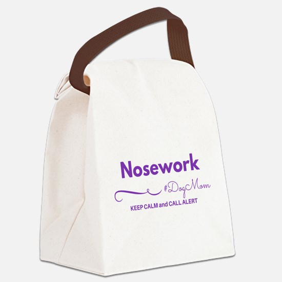 Nosework Dog Mom Tote Canvas Lunch Bag