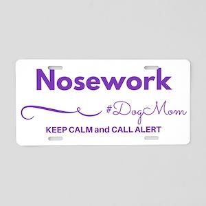 Nosework Dog Mom - Keep Aluminum License Plate