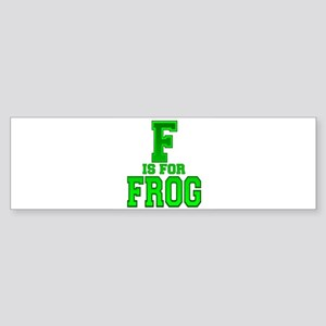 F is for Frog Bumper Sticker