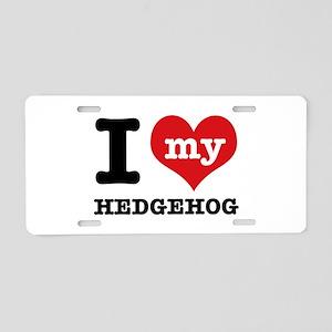 I heart Hedgehog designs Aluminum License Plate