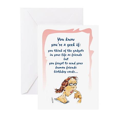 Geek Late Birthday Greeting Cards Pk Of 10 By Just4yucks