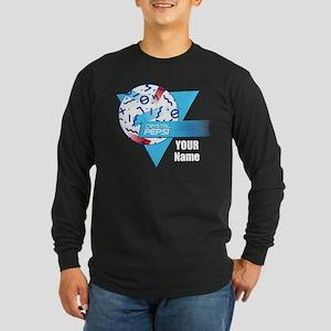 Crystal Pepsi Shapes Long Sleeve Dark T-Shirt