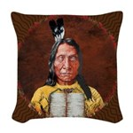 Red Cloud Woven Throw Pillow