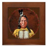Red Cloud Framed Tile