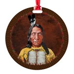 Red Cloud Round Ornament