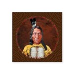 Red Cloud Square Sticker 3