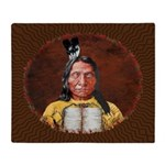 Red Cloud Throw Blanket