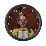Red Cloud Large Wall Clock