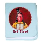 Red Cloud baby blanket