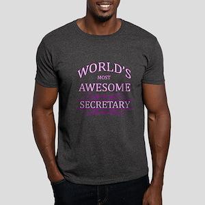 World's Most Awesome Secretary Dark T-Shirt