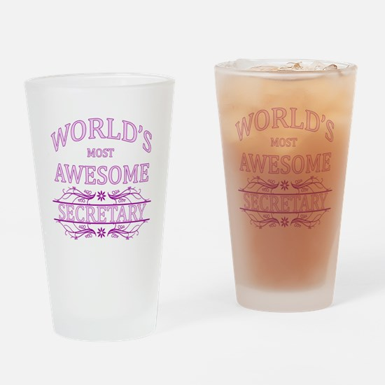 World's Most Awesome Secretary Drinking Glass
