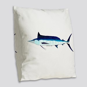 Shortbill Spearfish f Burlap Throw Pillow