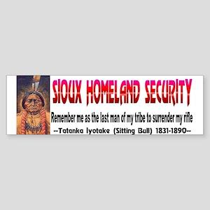 Sitting Bull Sioux Homeland Secur Sticker (Bumper)