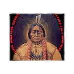 Sitting Bull Sioux Homeland Security Throw Blanket