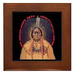 Sitting Bull Sioux Homeland Security Framed Tile