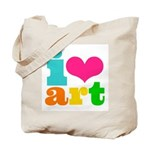 i heart art Tote Bag
