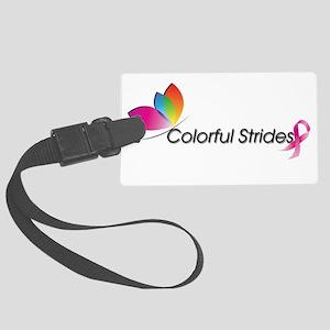 colorful strides logo Luggage Tag