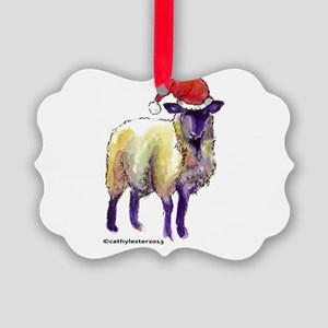 Sheep Holiday Picture Ornament