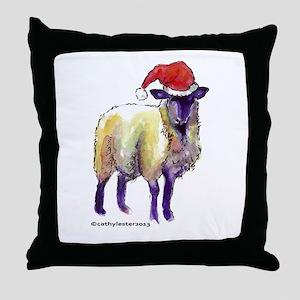 Sheep Holiday Throw Pillow