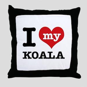 I heart Koala designs Throw Pillow