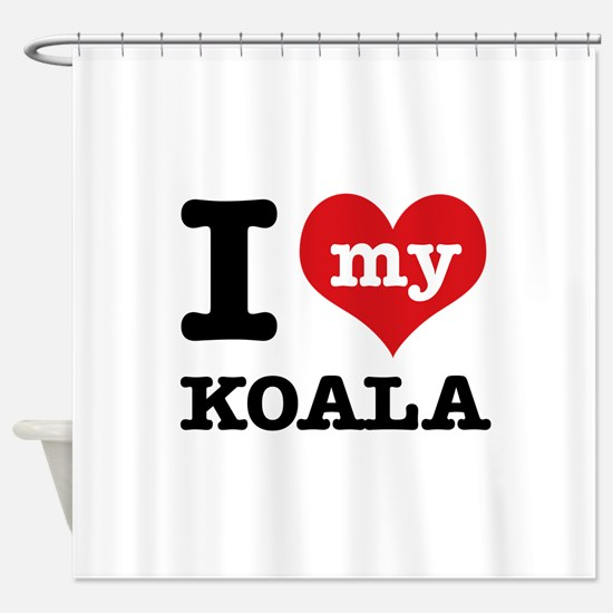 I heart Koala designs Shower Curtain