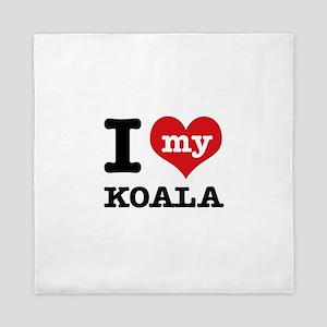 I heart Koala designs Queen Duvet