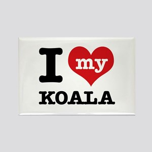 I heart Koala designs Rectangle Magnet
