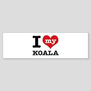 I heart Koala designs Sticker (Bumper)