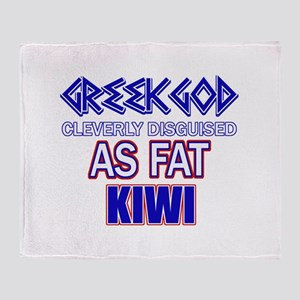 Fat New Zealand designs Throw Blanket