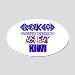 Fat New Zealand designs 20x12 Oval Wall Decal