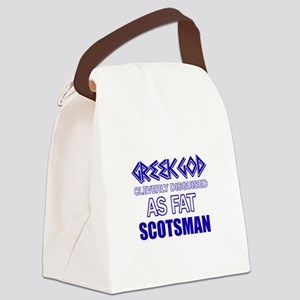 Fat Scottish designs Canvas Lunch Bag