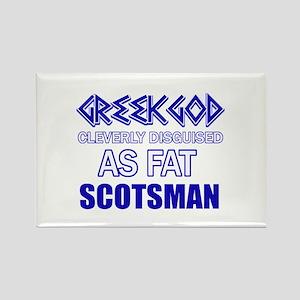 Fat Scottish designs Rectangle Magnet