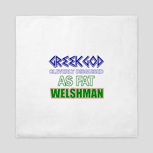 Fat Welsh designs Queen Duvet