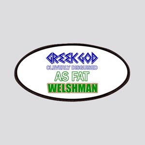 Fat Welsh designs Patches