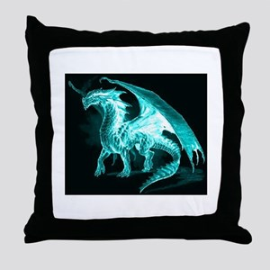 Ice Dragon Throw Pillow