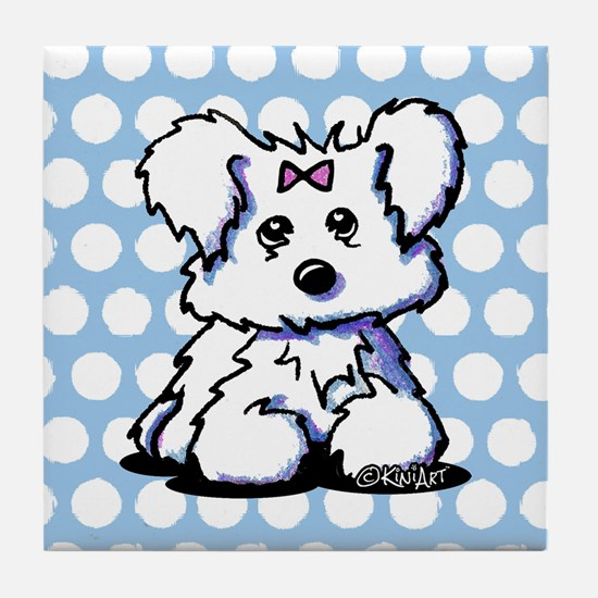 Maltese Pride n' Joy Tile Coaster