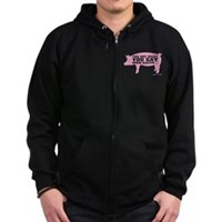 You Are What You Eat Mmm Bacon Zip Hoodie (dark)