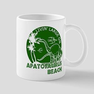 Dinosaur Apatosaurus Beach Mug