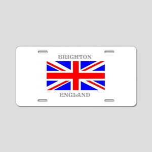Brighton England Aluminum License Plate