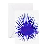 Purple Sea Urchin Greeting Card