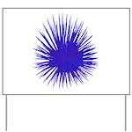 Purple Sea Urchin Yard Sign