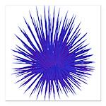 Purple Sea Urchin Square Car Magnet 3
