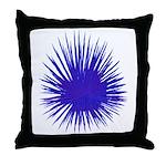 Purple Sea Urchin Throw Pillow