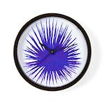 Purple Sea Urchin Wall Clock